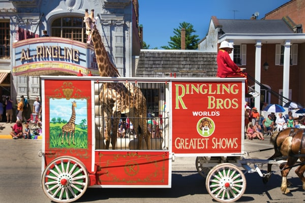 Ringling Bros. Giraffe Wagon No.39